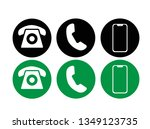 onnection phone icon vector... | Shutterstock .eps vector #1349123735