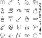 thin line icon set   flower in...   Shutterstock .eps vector #1349144618