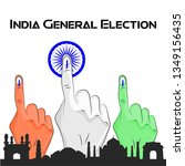 india general election voting... | Shutterstock .eps vector #1349156435
