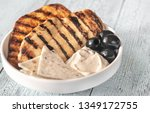 grilled chicken breast with... | Shutterstock . vector #1349172755