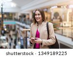 portrait of young woman in... | Shutterstock . vector #1349189225