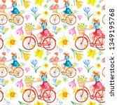 Watercolor Spring Bike Ride...