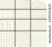set of 12 templates of... | Shutterstock .eps vector #1349201825