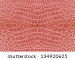 Pink Color Of Crocodile Leather ...