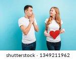 good news shocked man happily... | Shutterstock . vector #1349211962