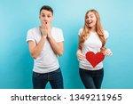 good news shocked man happily... | Shutterstock . vector #1349211965