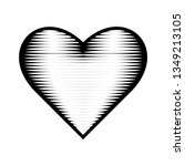 heart icon. engraving style.... | Shutterstock .eps vector #1349213105