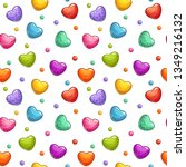 seamless pattern with colorful... | Shutterstock .eps vector #1349216132