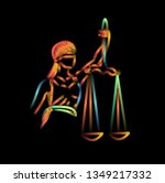 the statue of justice   lady... | Shutterstock .eps vector #1349217332