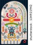pinball game  vector illustrator | Shutterstock .eps vector #134921942