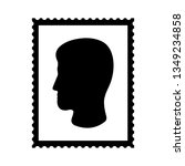 postal stamp icon with man's... | Shutterstock .eps vector #1349234858