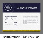professional certificate.... | Shutterstock .eps vector #1349239205