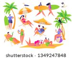 summer vacation theme. outdoor... | Shutterstock .eps vector #1349247848