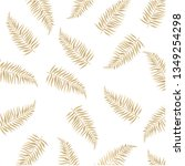 gold palm leaves isolated white ... | Shutterstock .eps vector #1349254298