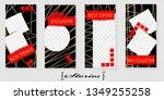 set of trendy templates for... | Shutterstock .eps vector #1349255258