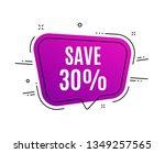 speech bubble banner. save 30 ... | Shutterstock .eps vector #1349257565