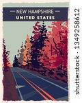 New Hampshire Retro Poster. Us...