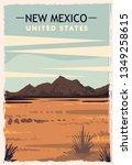 New Mexico Retro Poster. Usa...