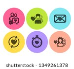 man love  heartbeat timer and... | Shutterstock .eps vector #1349261378