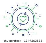 update relationships line icon. ... | Shutterstock .eps vector #1349263838