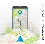 city map route navigation...   Shutterstock . vector #1349266118