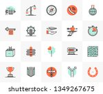 flat line icons set of business ... | Shutterstock .eps vector #1349267675
