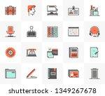 flat line icons set of modern... | Shutterstock .eps vector #1349267678