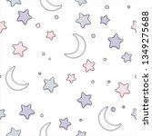 Seamless Pattern With Stars And ...