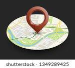 isometric round city map... | Shutterstock .eps vector #1349289425