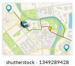 isometric city map navigation ... | Shutterstock .eps vector #1349289428