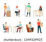 set of people with artistic... | Shutterstock .eps vector #1349329925