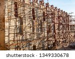 reconstruction of the castle in ... | Shutterstock . vector #1349330678