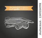 maize. set of fresh vegetables  ... | Shutterstock .eps vector #1349334998