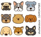 dog heads set | Shutterstock .eps vector #1349347085