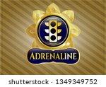 golden badge with traffic...   Shutterstock .eps vector #1349349752