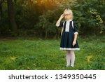 little happy smiling smart girl ...   Shutterstock . vector #1349350445