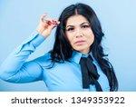 beauty expert. cosmetic tweezer ... | Shutterstock . vector #1349353922