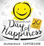 commemorative design with cute... | Shutterstock .eps vector #1349381408