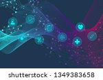 abstract geometric medicine and ... | Shutterstock .eps vector #1349383658