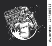 monochrome vector illustration... | Shutterstock .eps vector #1349385935