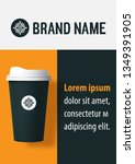 realistic paper coffee cup... | Shutterstock .eps vector #1349391905