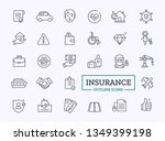 insurance thin line icons.... | Shutterstock .eps vector #1349399198