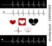 vector shape of cardiogram of... | Shutterstock .eps vector #134942405