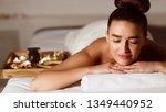 girl relaxing in beauty spa... | Shutterstock . vector #1349440952