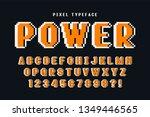 pixel vector font design ... | Shutterstock .eps vector #1349446565