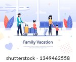 family going on vacation banner.... | Shutterstock .eps vector #1349462558