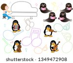 show time of the animal of the... | Shutterstock .eps vector #1349472908