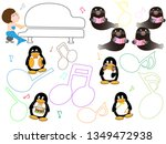 show time of the animal of the... | Shutterstock .eps vector #1349472938