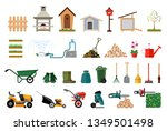 set of various gardening items. ... | Shutterstock .eps vector #1349501498