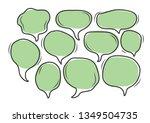 vector bubbles speech doodle... | Shutterstock .eps vector #1349504735